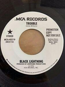 Black-Lightning-Trouble-7-034-US-Pressing-1974-Promo-Copy-TOP