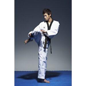 Taekwondo-Fighter-Anzug-schwarzes-Revers-WTF-JCalicu-Gr-150-210