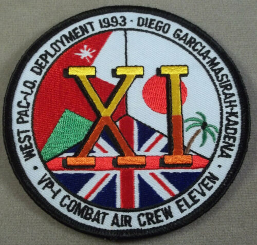 US Navy Patrol Squadron VP-1 Combat Air Crew Eleven Patch