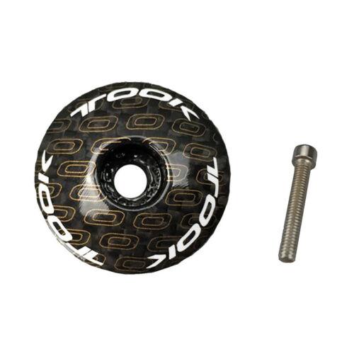 "Bolt MTB Road Mountain Bike Stem 1 1//8/"" Matte Carbon Fiber Headset Stem Top Cap"