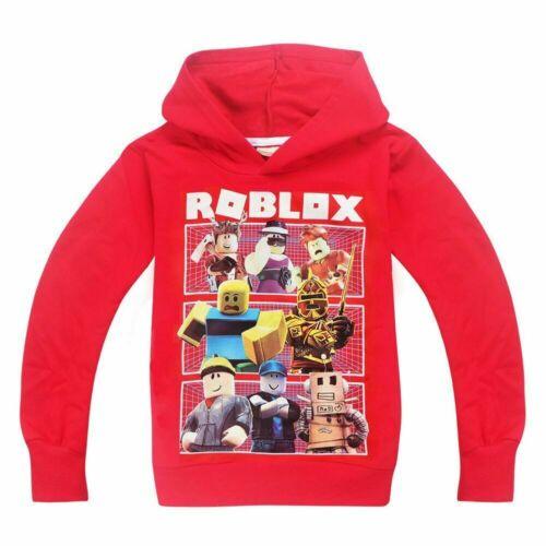 HOT Boys Girls Roblox Hooded Tops Kids Casual Hoodie Sweatshirt Gift UK