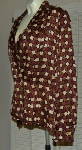 Anne Klein II Vintage 90s Silk Blouse French Cuffs