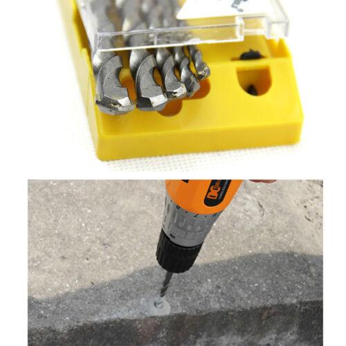 5pcs Masonry Drill Bits Set Concrete Brick Drywall Anchors Screws Assortment Kit