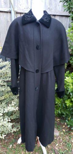Vtg Donnybrook Black Velvet Embroidery Edwardian … - image 1