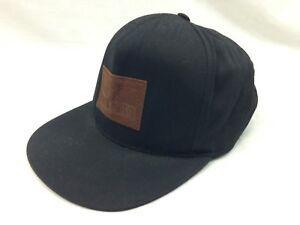 finest selection ee1ea 1bcc0 Image is loading Brixton-MFG-Co-Black-Hat-Eagle-Snap-Back-
