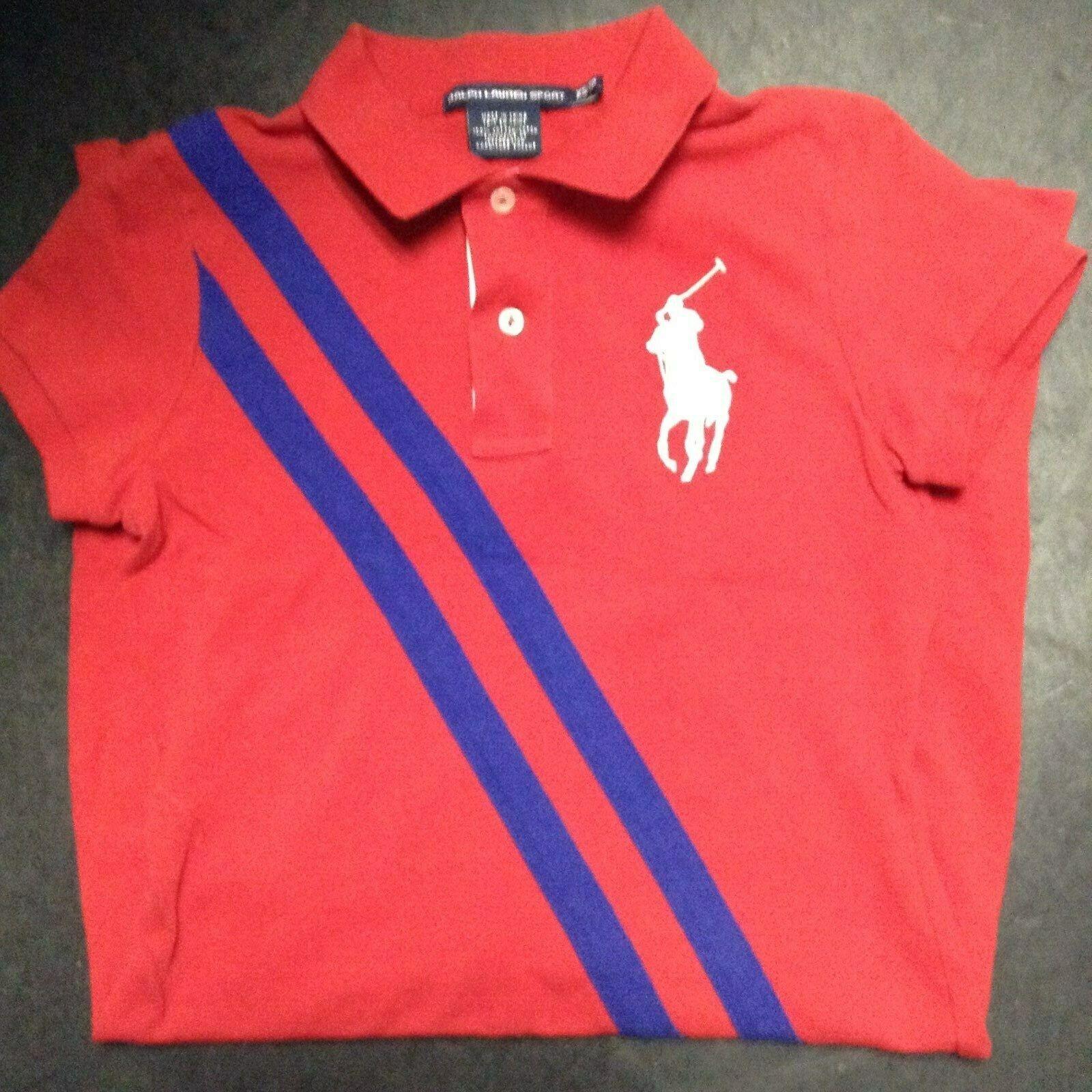 NWOT Polo Ralph Lauren sport damen rot Blau MULTI MESH DRESS Größe XS