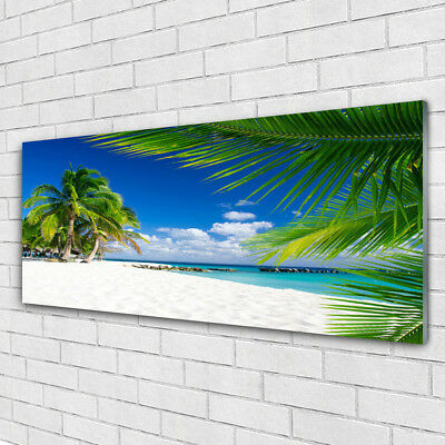 Acrylglasbilder Wandbilder aus Plexiglas® 125x50 Meer Strand Palmen Landschaft