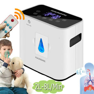 130W 1L-8L/Min Portable 93% OXYGEN-Generator-Concentrator Home Use Health-Care