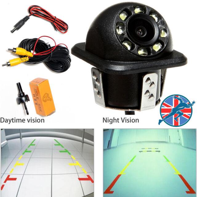 Car Reversing Rear View 8 LED Night Vision Backup Parking Camera Waterproof UK