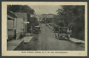 Berne-NY-c-1910s-Postcard-MAIN-STREET-IN-THE-HELDERBERGS-Route-443-Stores