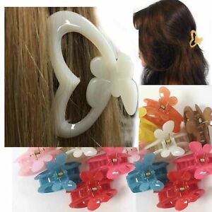 2-Hair-Claw-Clip-Clamp-Butterfly-Women-Large-Jaw-Grip-Hold-UPDO-Snap-Bulldog-Pin