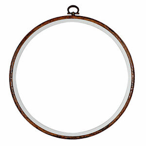 Embroidery-Flexi-Hoop-CrossStitch-Sewing-Round-Plastic-Frame-Free-Postage-8-inch