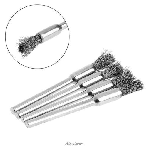 Mini Steel Brushes Wire Brushes Polishing Wheel Brush Durable Hand Tools 4Pcs