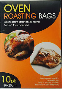 Image Is Loading Roasting Bags Large 38cm X 25cm For Cooking