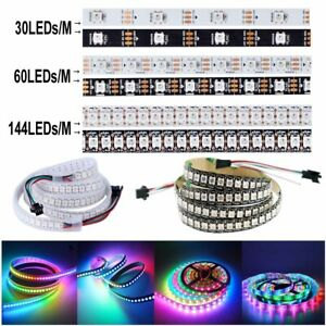 5V-WS2812B-5050-RGB-30-60-144LEDs-M-LED-Strip-ws2812-IC-Individual-Addressable