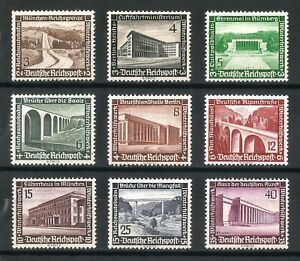 DR-Nazi-3rd-Reich-Rare-WW2-Stamp-Buildings-Architecture-Air-Ministry-Winter-Aid