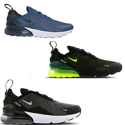 best website 7a8f6 ace2b ORIGINAL JUNIOR KIDS NIKE Air Max 270 TRAINERS BLACK VOLT GREY NAVY WHITE |  eBay