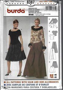 714ea44a0e904 Burda 8387-Sewing Pattern -Evening Dress- All Sizes 10-22 - Uncut ...
