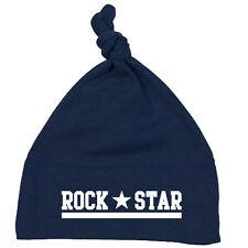 ROCK STAR  Einzelknoten Babymütze navy