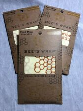 Bee's Wrap Assorted 3 Pack Eco Friendly Reusable Food Wraps Sustainable - Clover Print