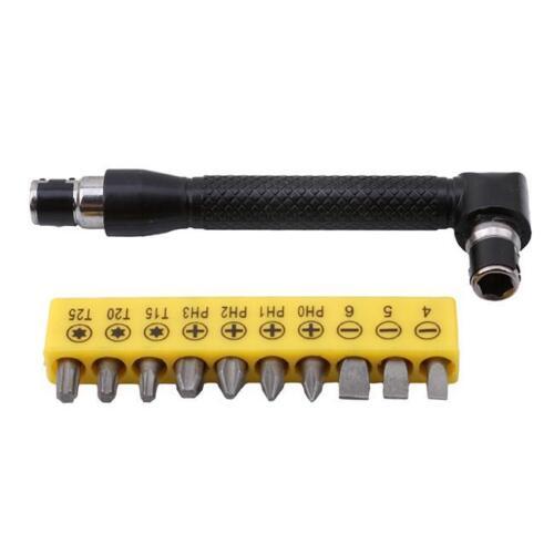 Professional Bit Socket Screwdriver L-shaped Angle Head Twin Wrench Torx Flat LC