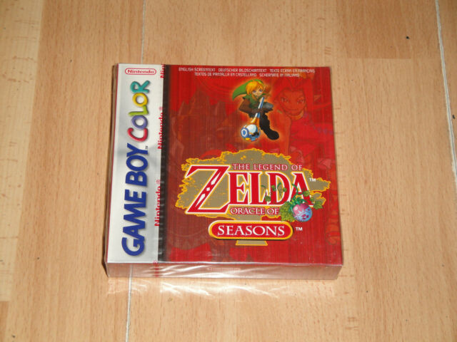 THE LEGEND OF ZELDA ORACLE OF SEASONS RED GB COLOR BRAND NEW FACTORY SEALED