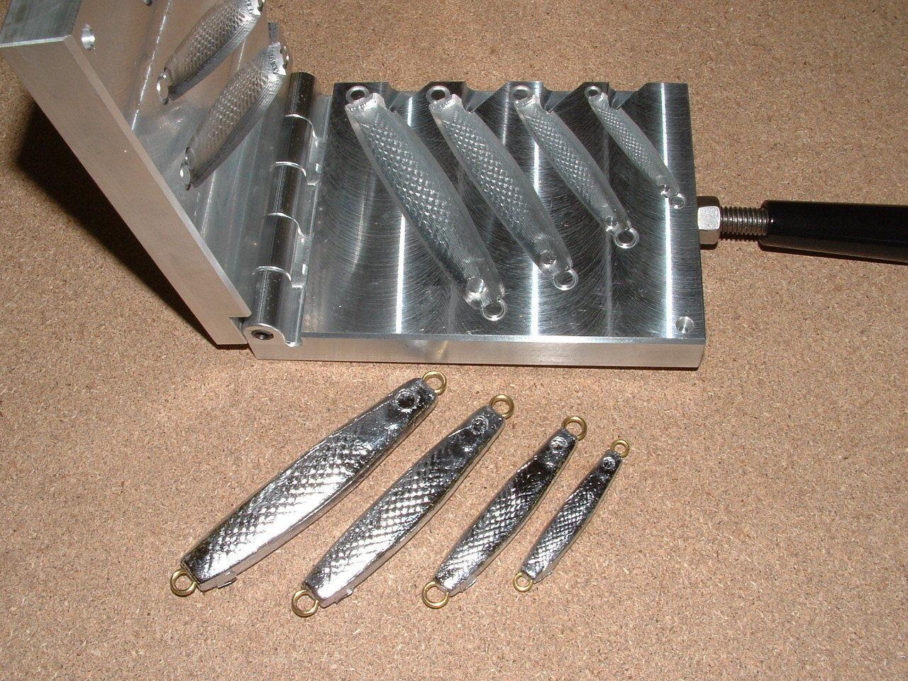 Saltwater Herring jig mold 3 4,1.5,3,5oz CNC Aluminum