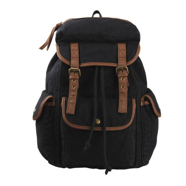 Boy Girl School Backpack Rucksack Bookbag Shoulder Bag Vintage Canvas Travel Bag