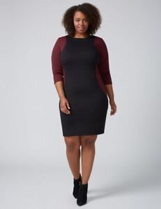 59f2e5d0022 Image is loading NEW-LANE-BRYANT-PLUS-SIZE-COLORBLOCK-SHEATH-DRESS-