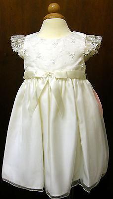 Damigelle D'onore Baby Girl Cenerentola Vestito Avorio,12 18 24 M Bnwt Battesimo Party- Impermeabile, Resistente Agli Urti E Antimagnetico