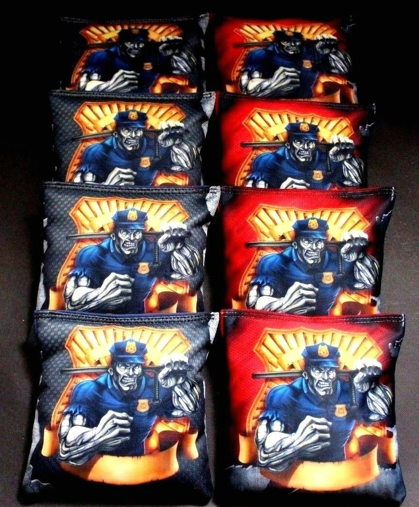 POLICE Badge Academy bluee Lives Matter 8 ACA Regulation Cornhole Bean Bags B198