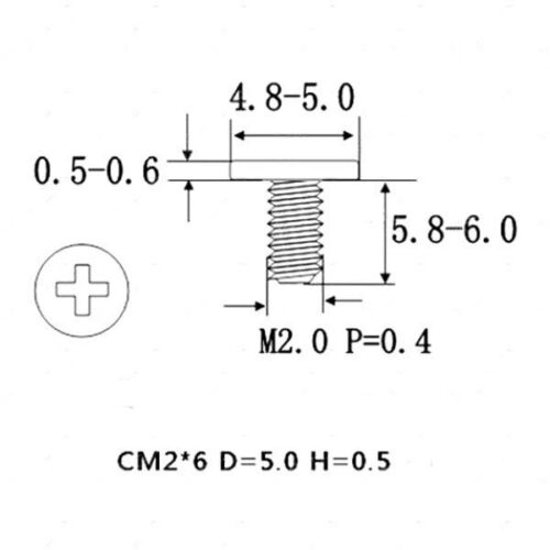 M2 x 6mm Phillips Flat Head Screw White Zinc Plated