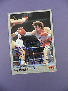 Ray Mancini (Boom Boom) WBA  Boxer - Autographed Trade Card