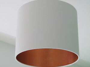 Image Is Loading New Handmade Brushed Copper Lined Off White Fabric