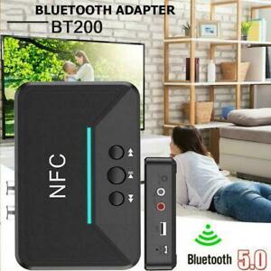 Wireless Bluetooth 5.0 Receiver RCA aptX LL NFC 3.5mm ne USB Aux Jack best R3Y1