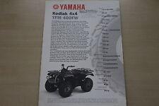 168462) Yamaha YFM 400 FW 4x4 Kodial Quad Prospekt 200?