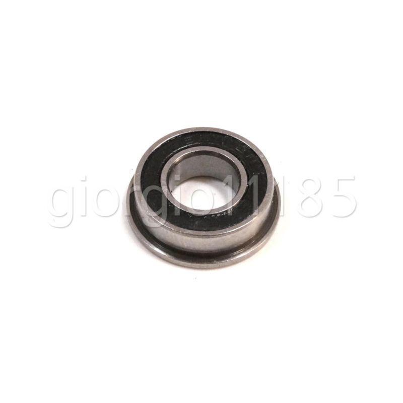 Metal Flanged Rubber Sealed Ball Bearing Bearings 6x17x6 mm 5 Pcs F606-2RS