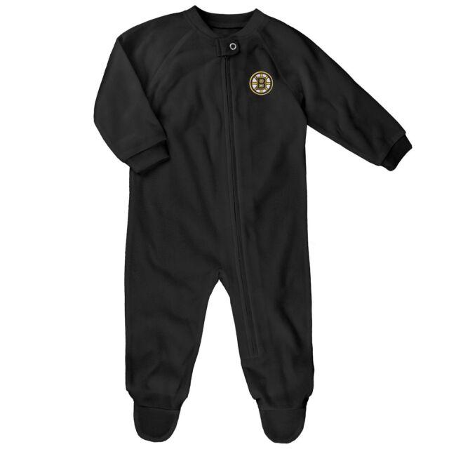 c335fe07b791 Buy 18 Months Boston Bruins NHL Zip up Footie Bodysuit Pajamas ...