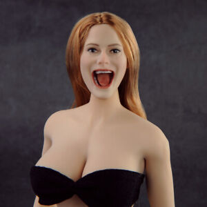 Female-Head-Sculpt-PVC-Model-Toy-1-6-Singing-Girl-Open-Mouth-F-PH-Action-Figure