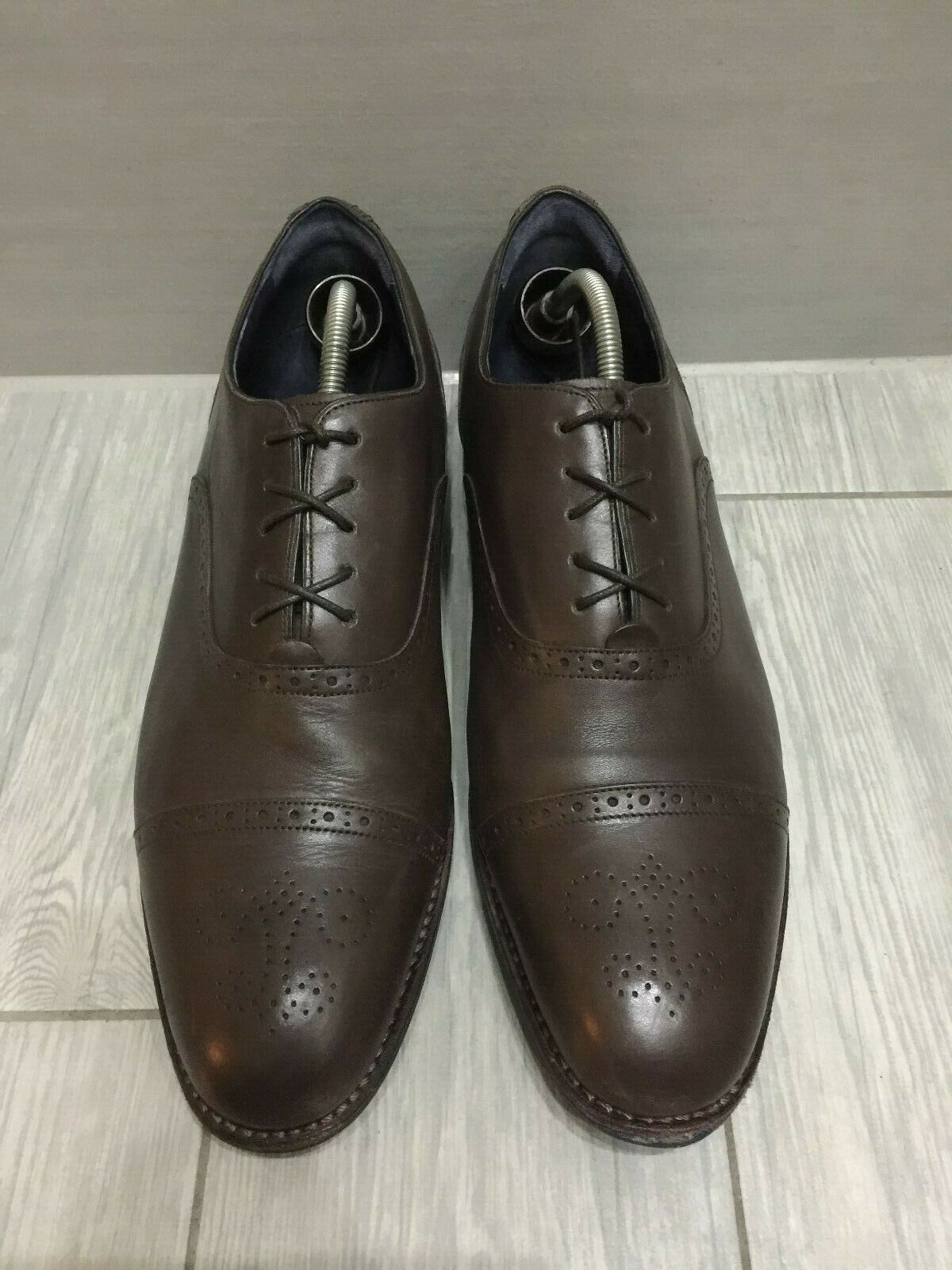 CHARLES TYRWHITT GOODYEAR WELTED LEATHER OXFORD BROGUES, UK 10.5,