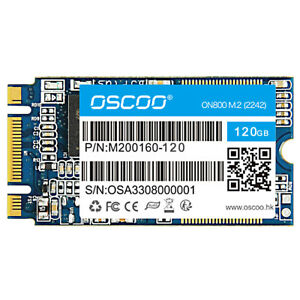 OSCOO 120GB SSD NGFF M.2 Solid State Drive NAND Flash MLC Memory 42mm (2242) AU