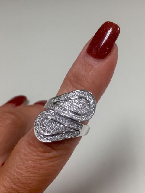 Victoria Wieck 100 PC topaz 10KT white gold filled statement ring size  8