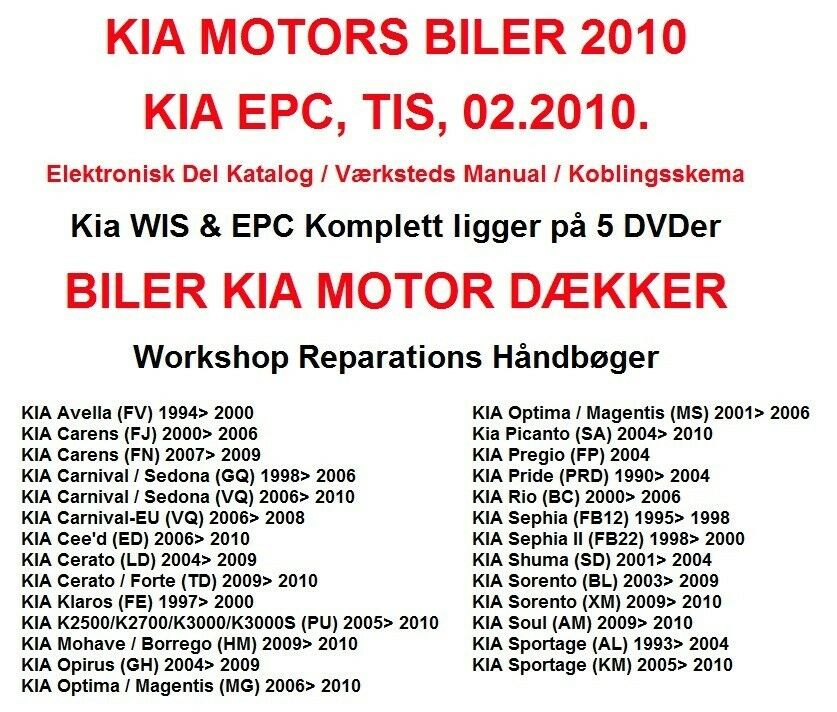 Kia, Reparations Service Manual