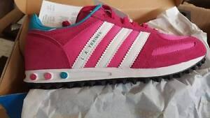 rigidez Detener Darse prisa  Adidas L A Trainer K girls kinder New, Authentic! | eBay