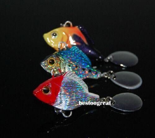 10PCS Fishing Fish Metal VIB Lure Minnow Bass Crankbaits Tackle hook 4cm 15g