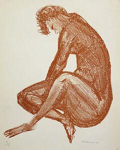 COLLAMARINI-1904-1983-Litho-3-5-NU-NUDE-Stampe-Drucke-GRABADO-ETCHING-Erotik