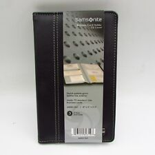 Samsonite Leather Like Exterior Business Card Case Holds 72 4 12 X 1 38