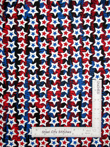 Patriotic-Silver-Pearl-Stars-Blue-Cotton-Fabric-Star-Spangled-by-Kanvas-Yard