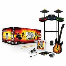 PS3 Guitar Hero WORLD TOUR BAND KIT Set FREE SHIPPING drums mic game playstation