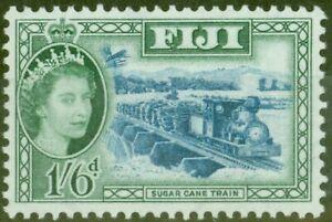 Fiji 1952 1s6d Blue & Myrtle-Green SG290 V.F MNH